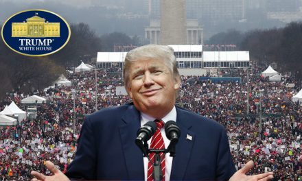 President Reacts To HUGE Crowds In Washington