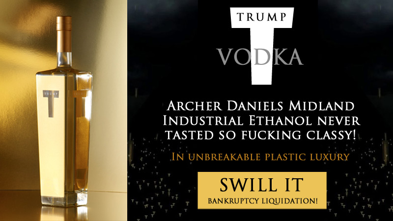 TRUMP® VODKA: Bankruptcy Liquidation!