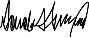 Donald J. Trump signature