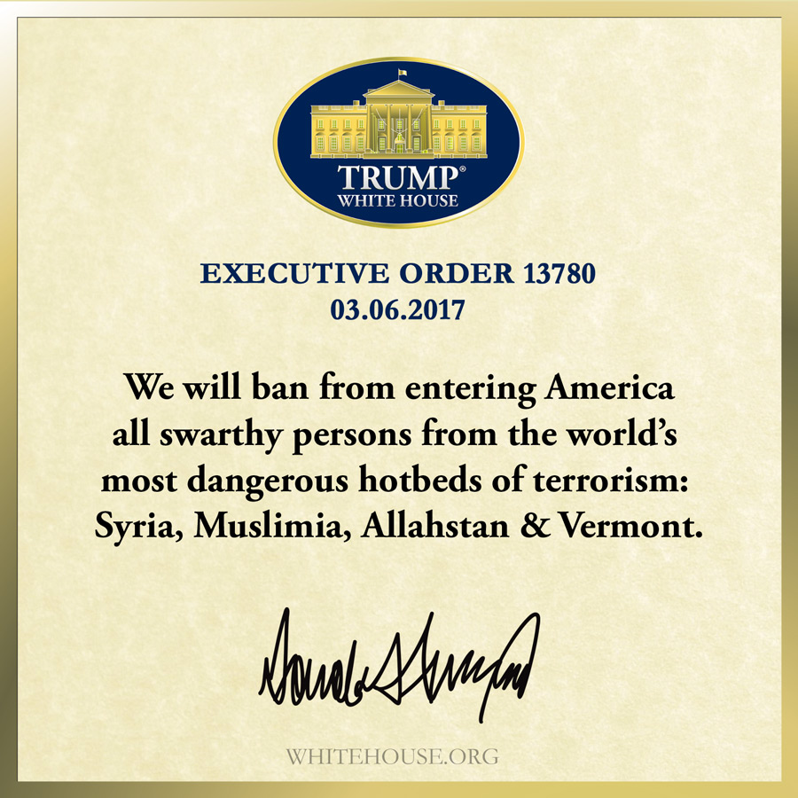 Executive Order Protecting The Nation From Foreign Terrorist Entry ...