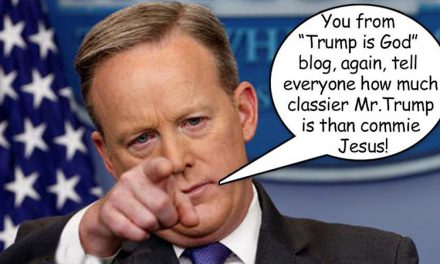 Sean Spicer Bravely Combats Scourge of Fake News