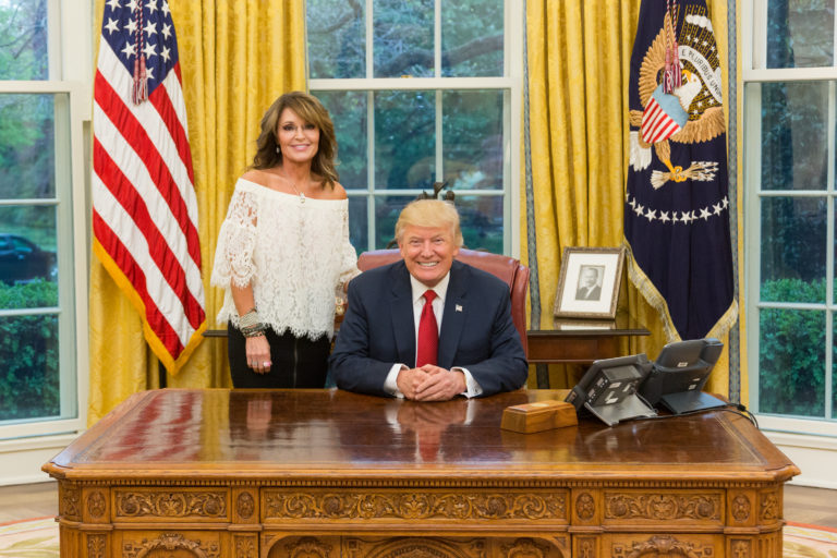 Sarah Palin Donald Trump Oval Office
