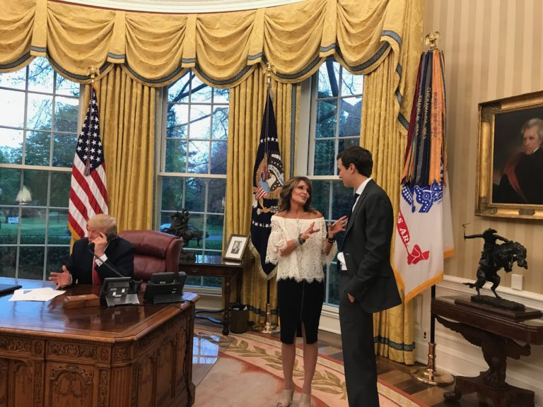 Sarah Palin & Jared Kushner in Oval Office