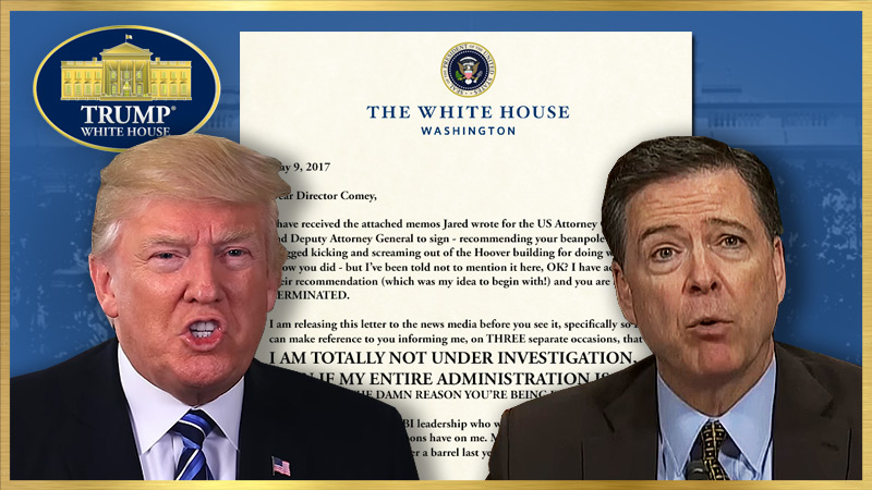 President's Termination Letter to FBI Director James Comey