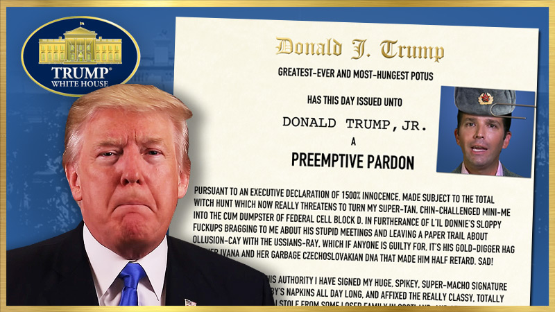 PREEMPTIVE PARDON of Donald Trump, Jr.
